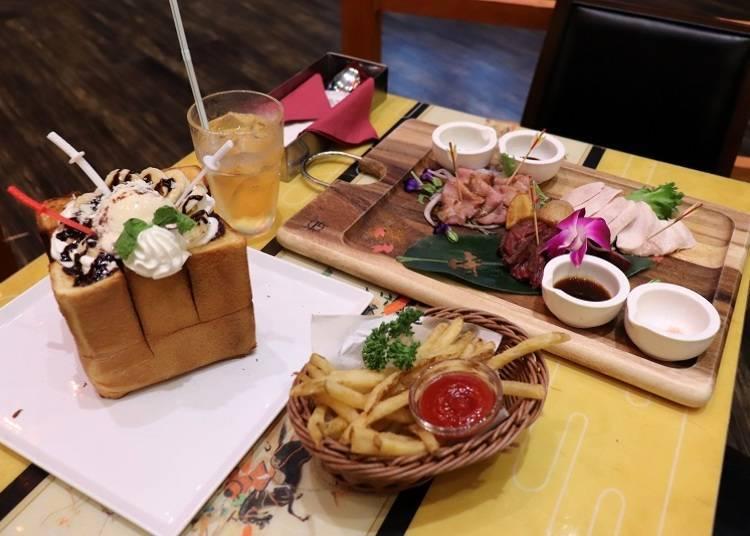 ■티켓제로 식사와 음료를 즐긴다