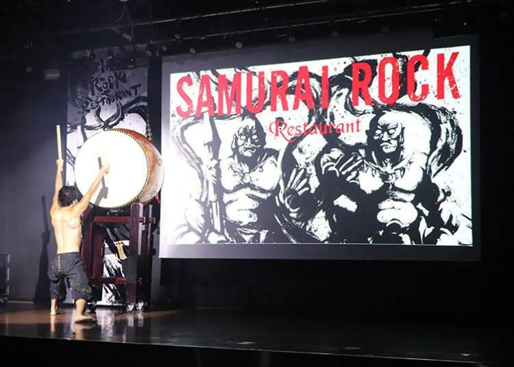 臨場感與魄力刺激全身的「Samurai Rock Restaurant」雜技表演秀