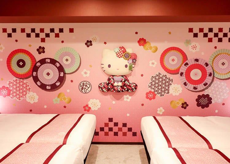 充满浅草色彩的Kitty世界! Hello Kitty主题客房「日式摩登」