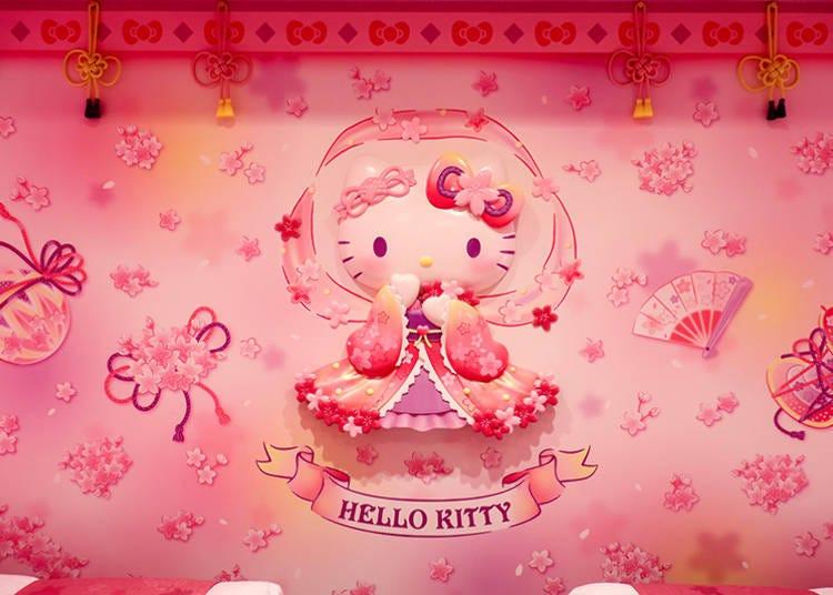 仙女下凡的粉紅世界!Hello Kitty主題客房「櫻天女」
