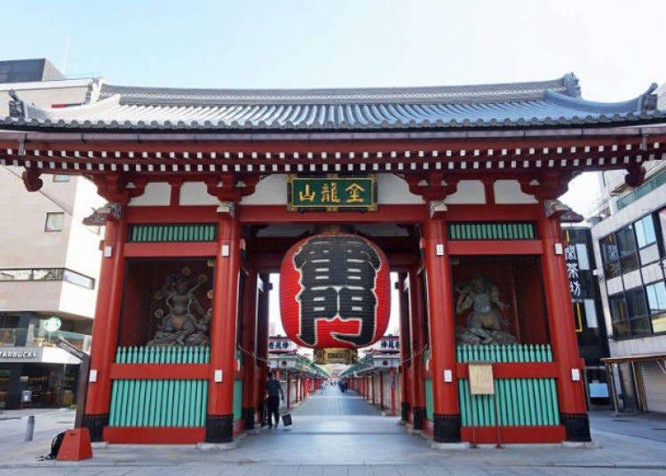 1. 浅草を代表する名所「浅草寺」を早朝に観光する