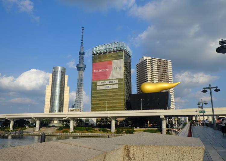 浅草駅から徒歩5分のTOKYO隅田川ブルーイングへ!