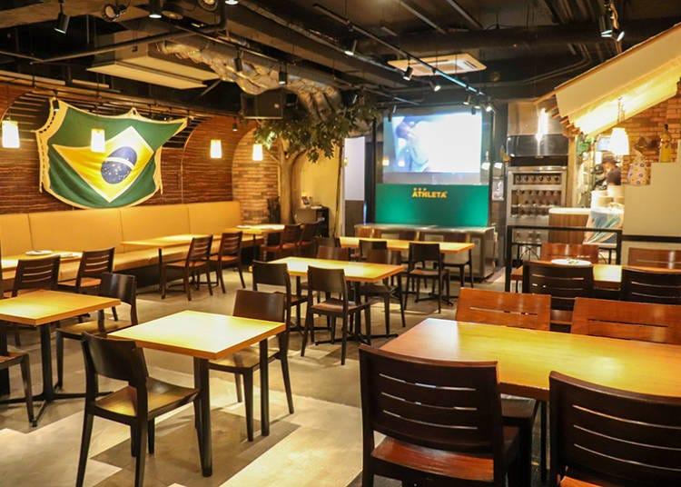 【浅草】采套餐方式供应的巴西烤肉&料理吃到饱「Que Bom!」