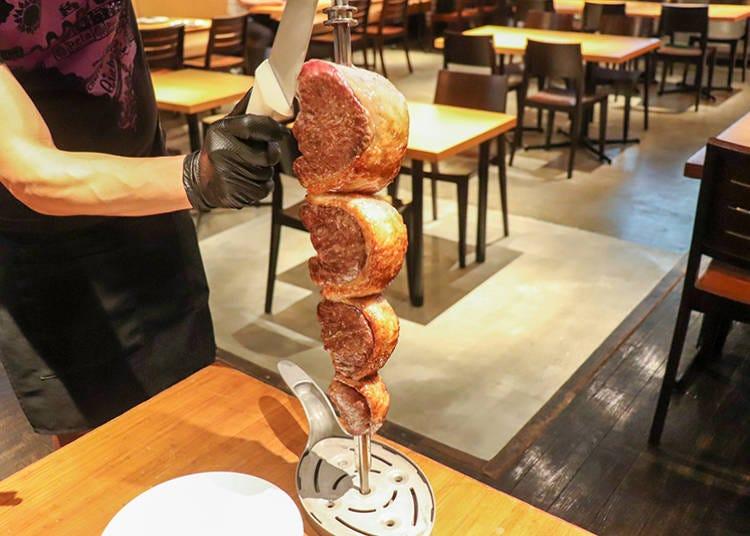 10种以上现切巴西烤肉无限量吃到饱供应