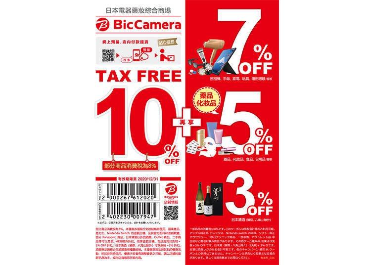★游日旅客注意★BicCamera超值优惠折扣券!