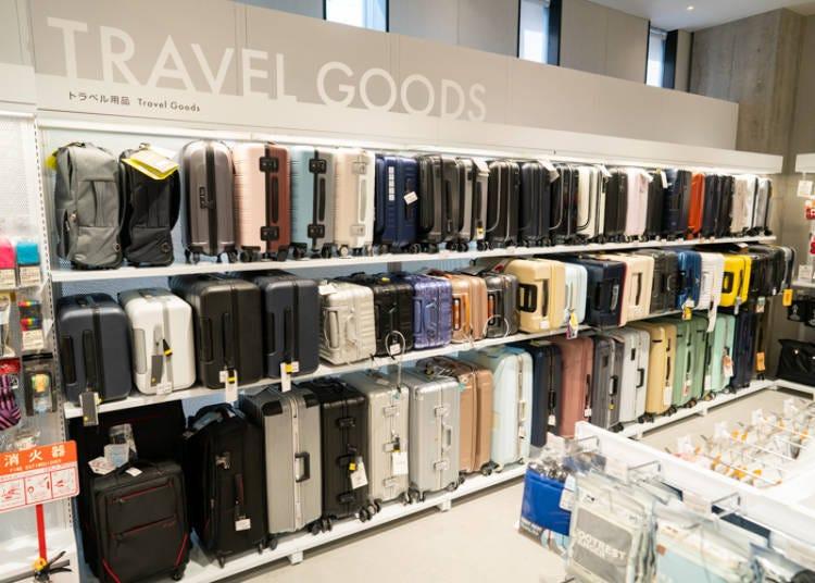 銀座Loft裡豐富的旅行用品賣場樓層