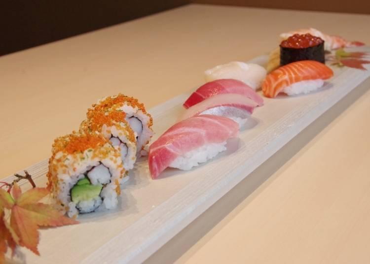 '초밥집 긴자 후쿠스케 본점' 외국인들에게 인기있는, 화려한 SUSHI SET를 즐겨보자!