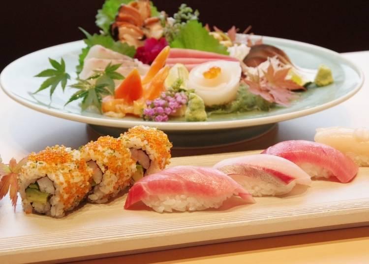 신선한 해산물과 친절한 서비스. 도쿄에서 최고의 초밥을 먹고 싶다면 '초밥집 긴자 후쿠스케 본점'으로!