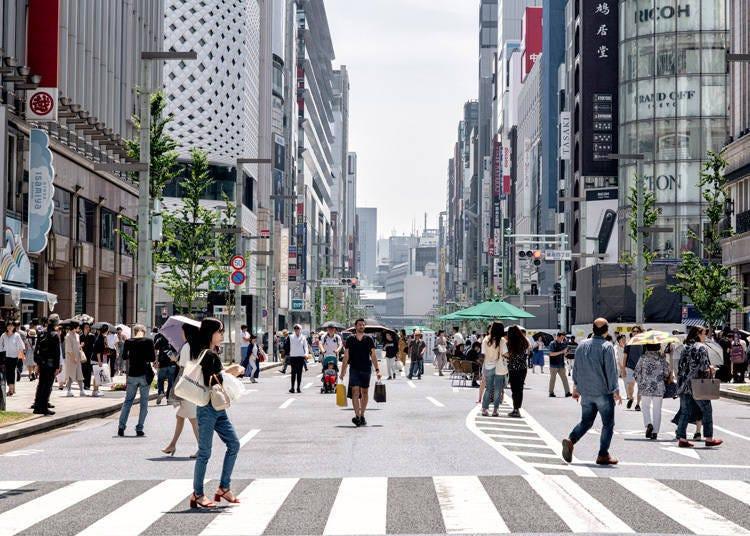 在銀座的步行者天國逛街超無負擔!