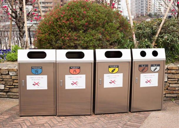 外にゴミ箱が一切置いていない!日本人はどこにゴミを捨てるの?