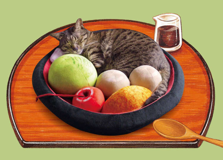 Turn your kitty into a Japanese sweet with Felissimo's new Anmitsu Nyanko Cushion cat bed