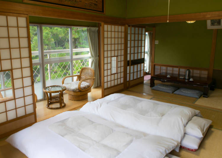 4. Ryokan are spacious and beautiful, but check if they have western-style beds