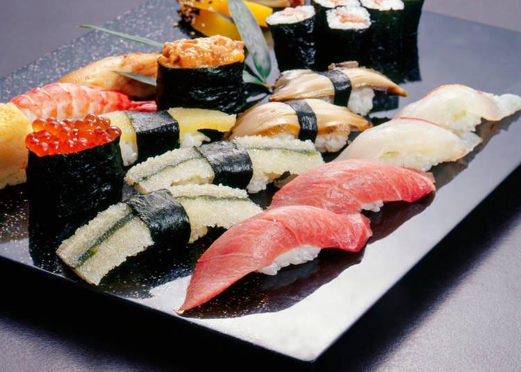 1. Edomae sushi (江戸前寿司)