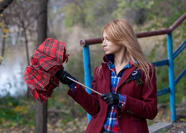 折りたたみ傘より長傘を好むのはなぜ?
