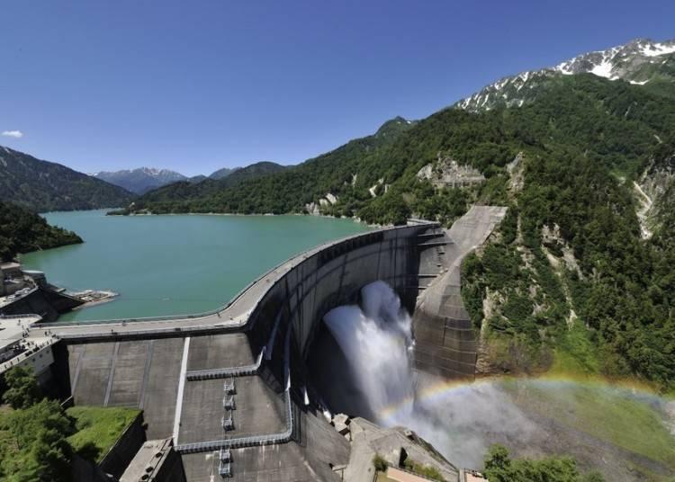 일본에서 가장 높은 '구로베댐'