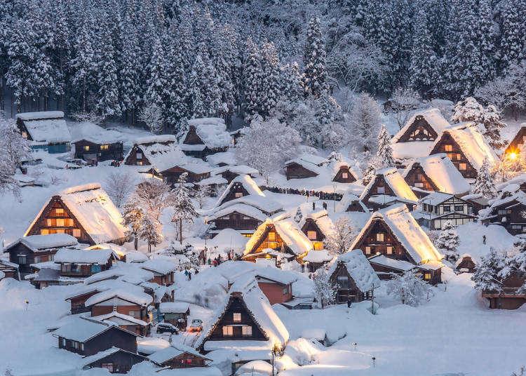 시라카와고를 시작으로 일본 주부 지방에 있는 멋진 설경 포인트 7곳