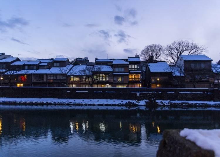 4. 雪景色が美しい金沢の街