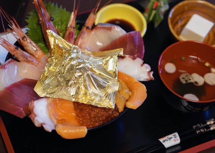 8:近江町市場で金箔グルメを食べる