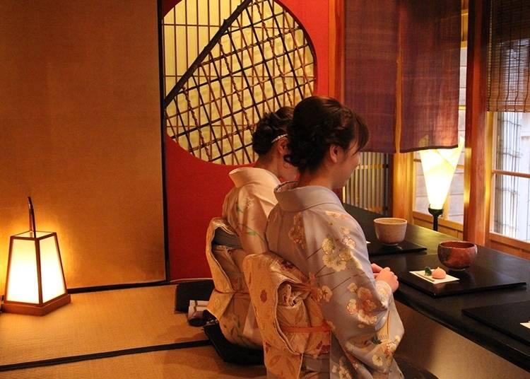 11:重要文化財の茶屋「志摩」を見学&中庭で抹茶をいただく
