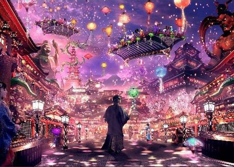 仮想現実と現実世界を組み合わせた日本を体験