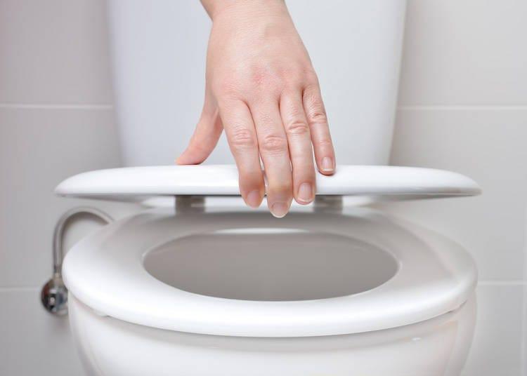 トイレのふたは閉めましょう