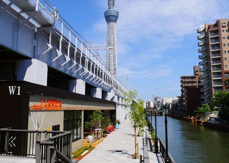 Sumida River Walk and Tokyo Mizumachi: Eastern Tokyo's Coolest New Shopping Complex!