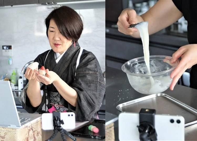 线上体验日本文化②和练切和果子讲师一起制作日式甜点