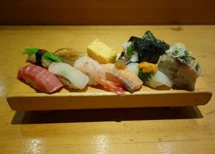 板前壽司必吃②各種食材都來一點!板前壽司「精選握壽司組合」