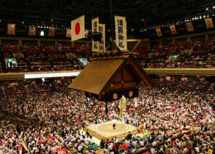 2. Watch the national sport of Japan, Sumo wrestling