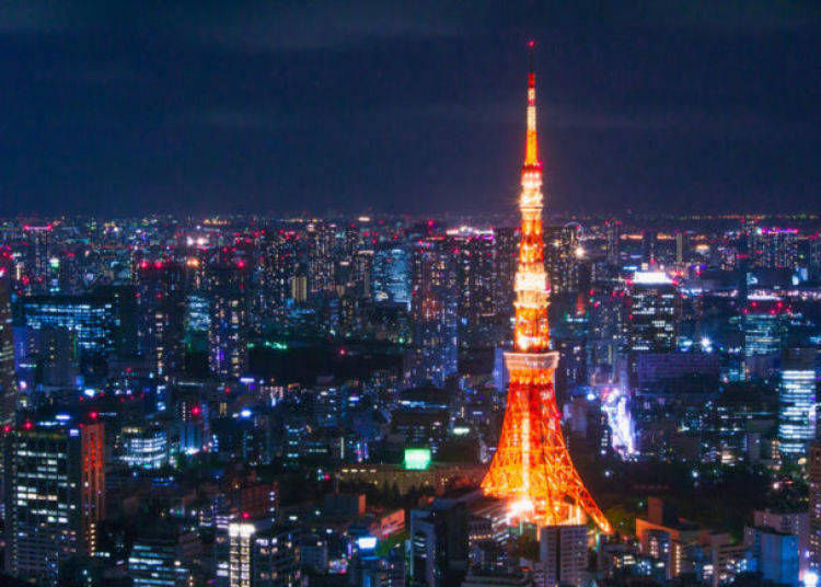 12. Admire the night view of Tokyo from Tokyo Tower