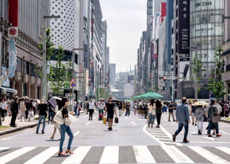 東京體驗⑳享受在銀座步行者天國血拚購物