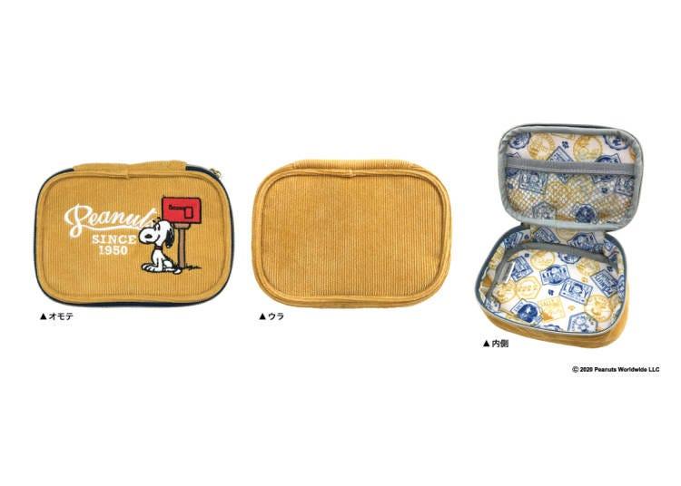 日本郵局限定史努比商品②燈芯絨小袋子