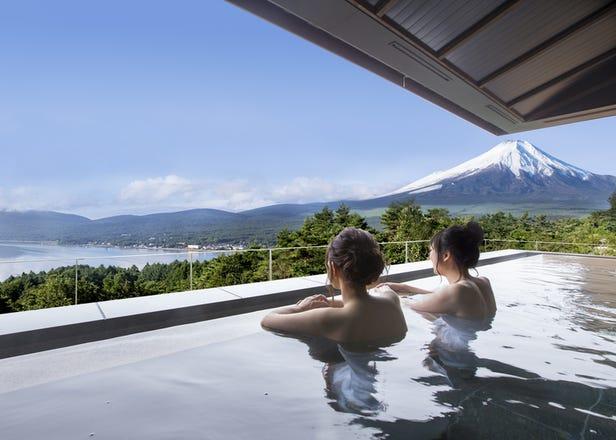 お風呂から富士山の贅沢!貸切風呂や絶品朝食がオススメの「おこもり宿」5選