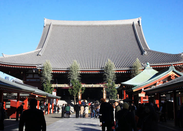 2. Sensō-ji: A popular destination all-year-round, but even more so during hatsumōde season
