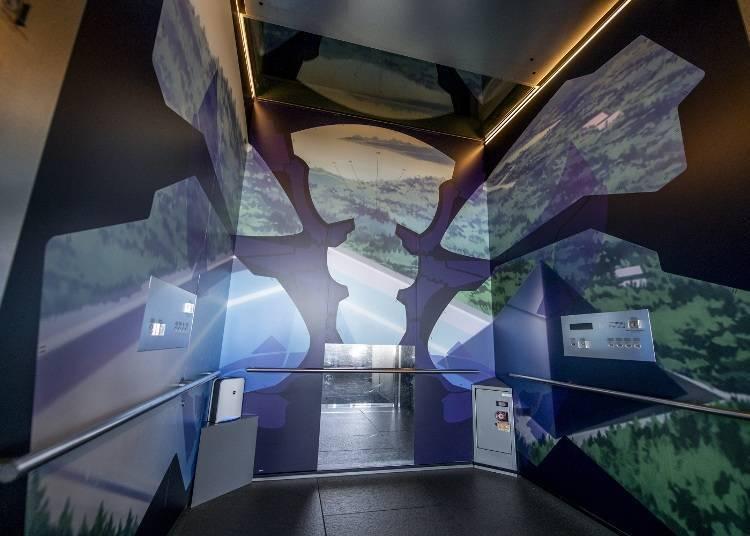 展示布景充满魄力的天望回廊