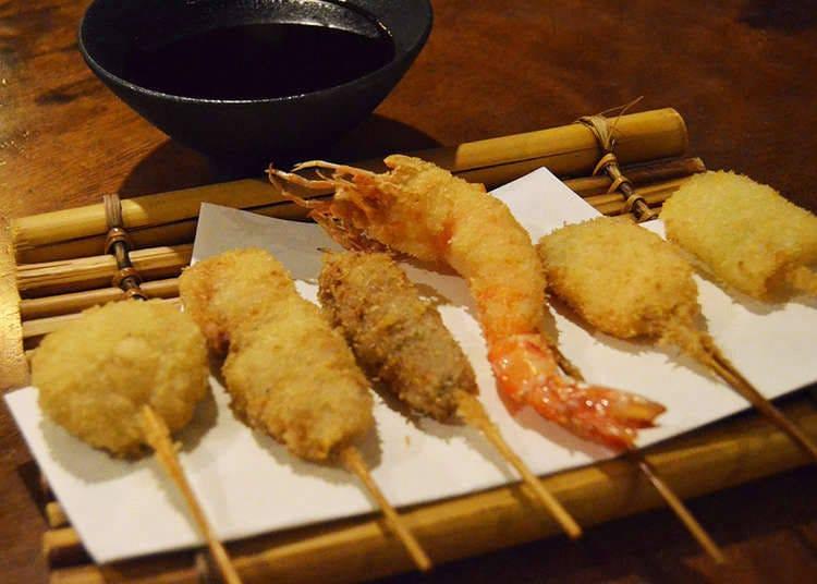 5. Make Your Own 'Kushikatsu,' Osaka's Deep-Fried Specialty!