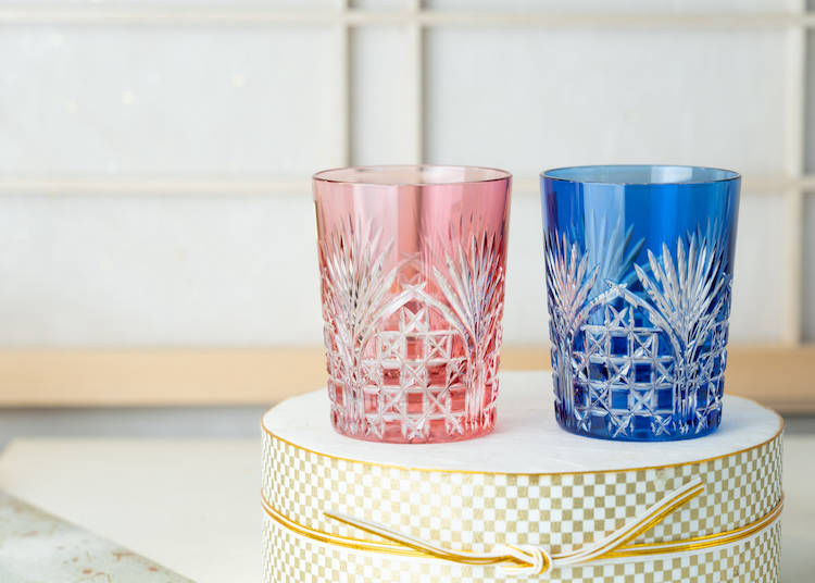 1. Tradition With a Twist: Edo Kiriko Whiskey Glasses