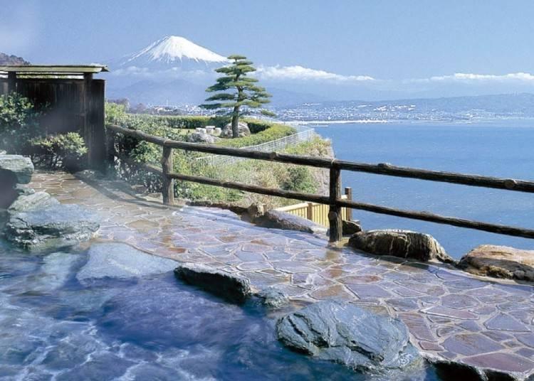 露天風呂から富士山が見える「ホテルアンビア松風閣」で宿泊