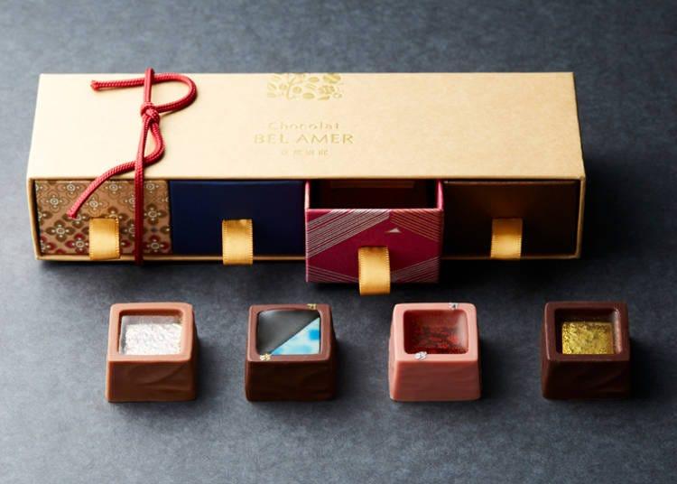 4.両親や自分へのご褒美に:日本発のショコラ専門店「ベルアメール京都別邸」の日本食材を使用したチョコレート