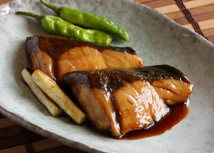 ⑦照烧鰤鱼(ブリの照り焼き)