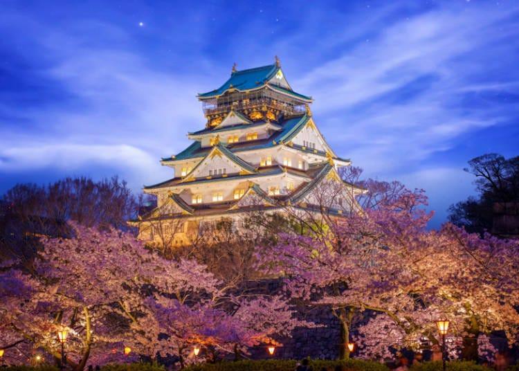 ⑨大阪城公園桜まつり(大阪市中央区)
