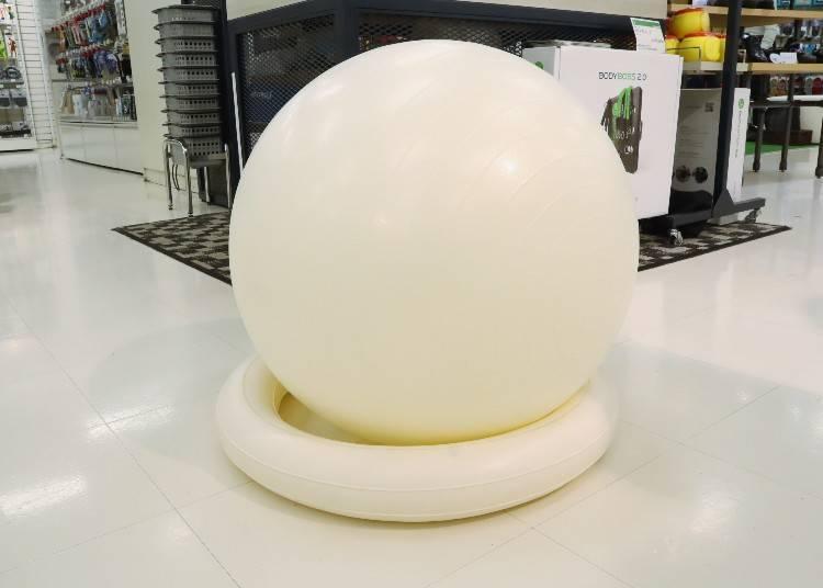 1. La-VIE Gym Ball with Ring Base: Shisei Yoshiko - Work Out While Multitasking! (2,640 yen)