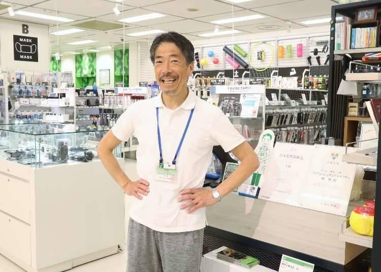 本次受访的新宿店招牌店员-「男子汉商店」店长西先生!