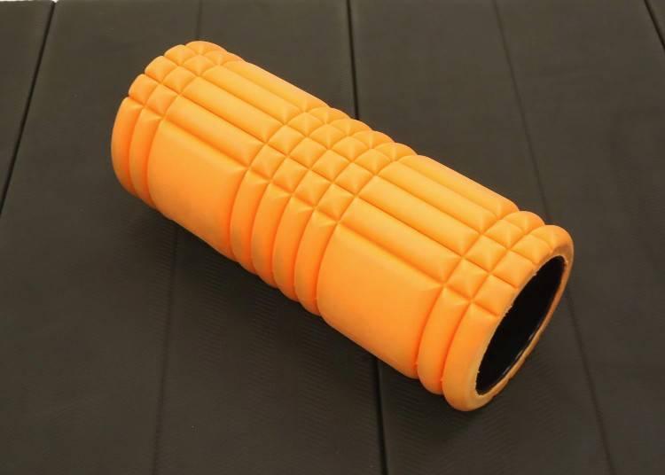 4)舒缓筋膜、放松全身! TRIGGER POINT按摩滚筒「Grid Foam Roller」(橘)