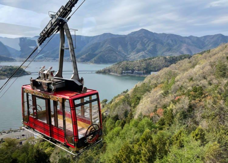 景點③從1100公尺無死角欣賞富士山-「~河口湖~富士山全景纜車」