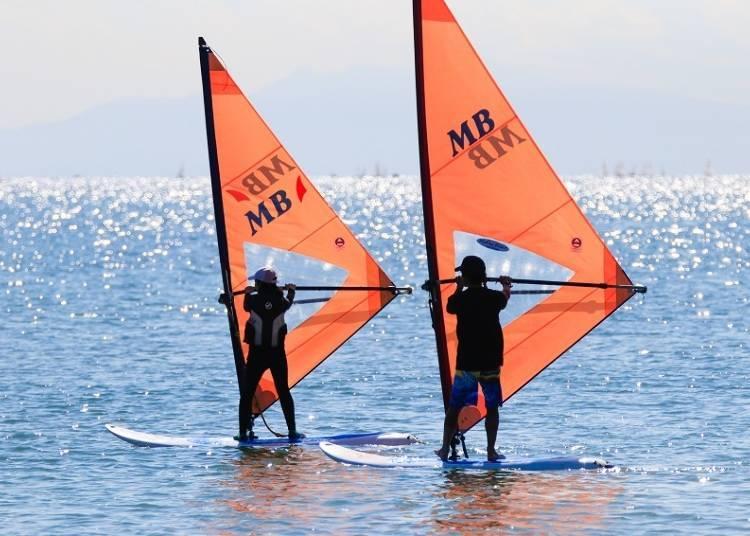 4. Kanagawa Prefecture's Zushi Beach: Beginner Level Wind Surfing Lesson on the Miura Peninsula