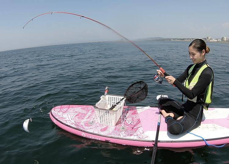 5.ポイント移動でいろいろな魚が釣れる「SUPフィッシング」【茅ヶ崎/神奈川】