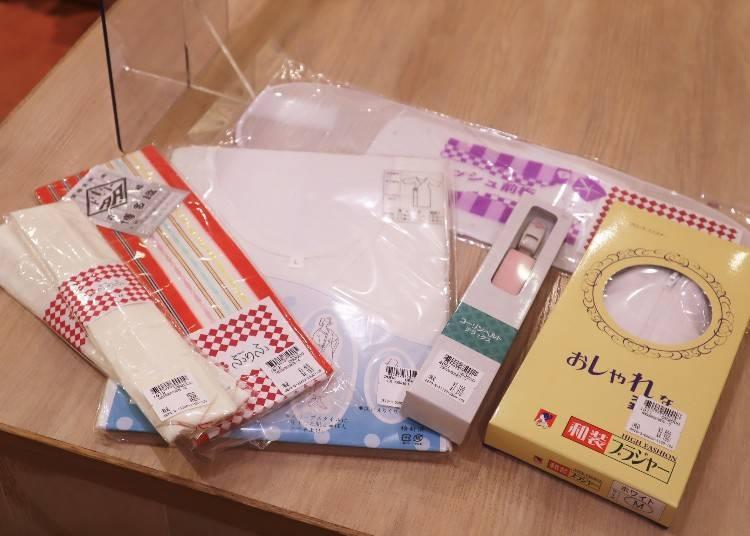 Items you need other than the yukata, obi, and geta