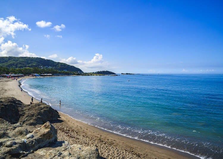 1. 도쿄에서 1시간! 세계의 아름다운 비치 100에도 선정된 '잇시키 해안'/가나가와현