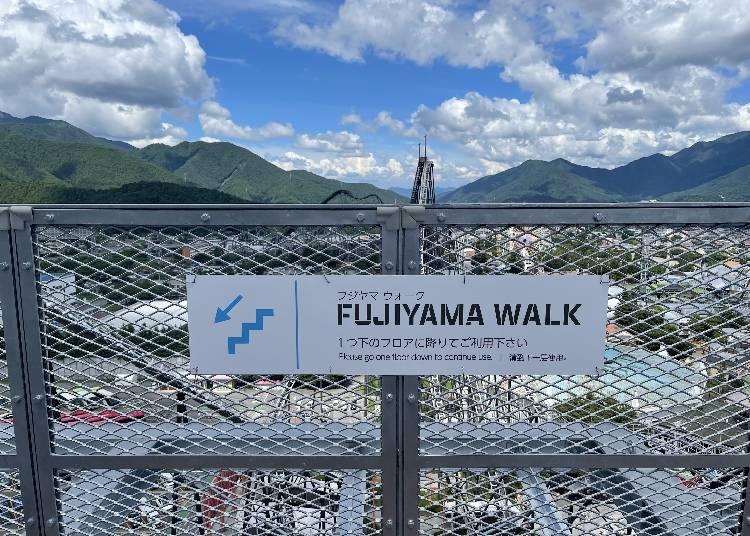 前代未聞の空中歩行「FUJIYAMAウォーク」で度胸試し!